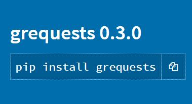 Requests + gevent for asynchronous HTTP requests