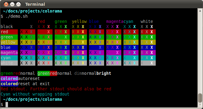 Simple cross-platform colored terminal text in Python