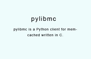 A Python wrapper around the libmemcached interface