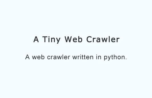 A tiny web crawler in Python