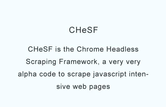 A very alpha code to scrape javascript intensive web pages