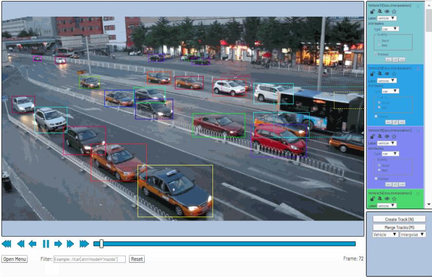 A web-based tool which helps to annotate video and images for Computer