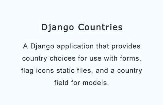 A Django application that provides country choices for use with forms