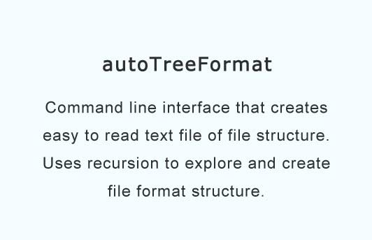 Command line interface that converts file structure to easy to read text files