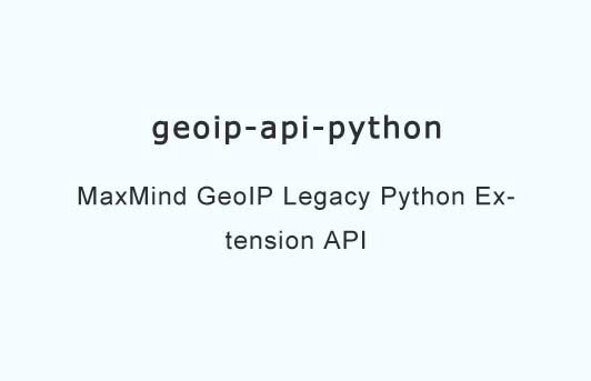 Python API for MaxMind GeoIP Legacy Database
