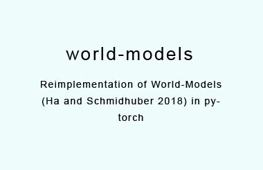 Reimplementation of World-Models in pytorch