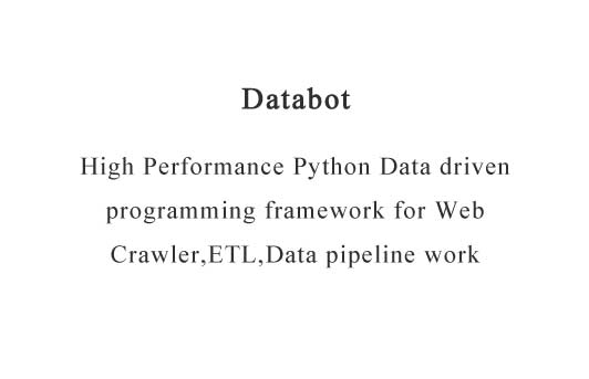 High Performance Python Data driven programming framework for Web