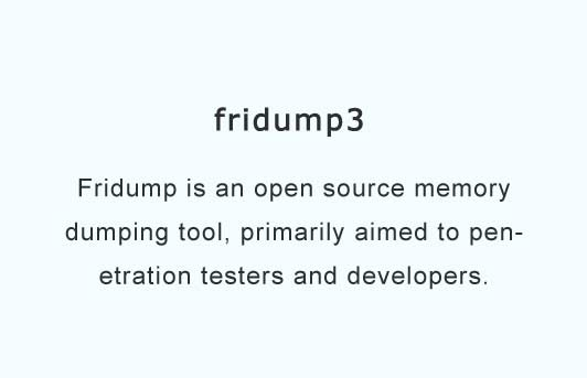 A universal memory dumper using Frida for Python 3
