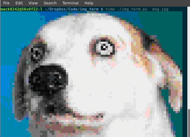 Converts an image to a representation in ANSI