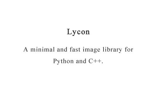 A minimal and fast image library for Python and C++
