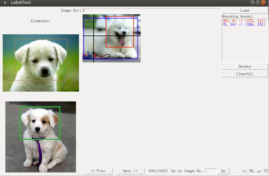 A simple tool for labeling object bounding boxes in images