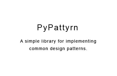 A simple library for implementing common design patterns