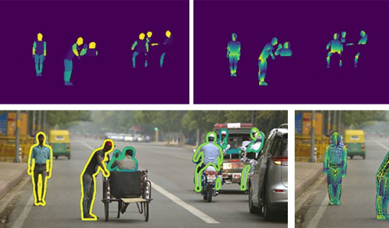 A real-time approach for mapping all human pixels of 2D RGB images to a 3D