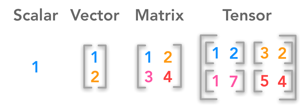 scalar-vector-matrix-tensor