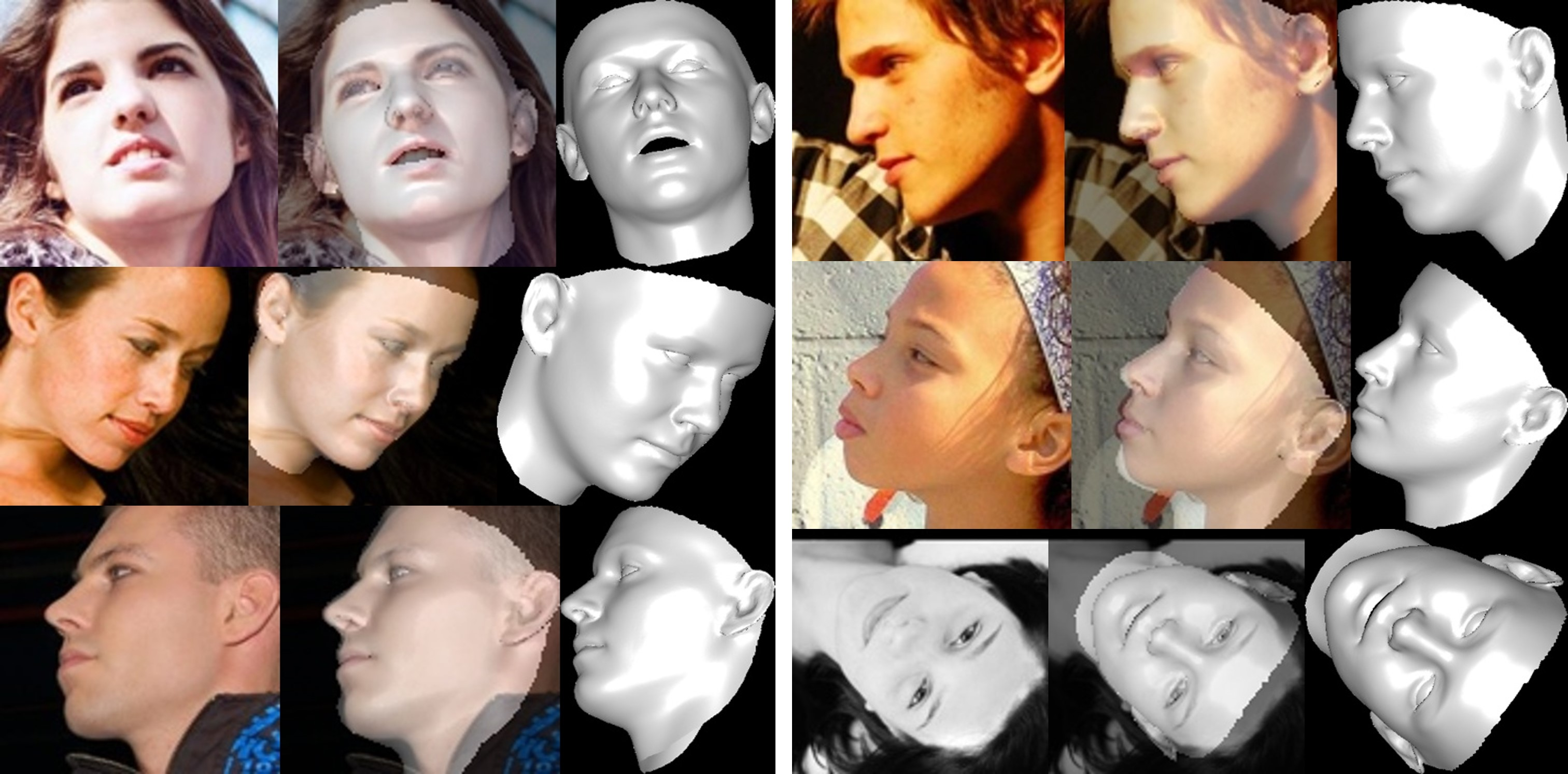 Face Alignment in Full Pose Range: A 3D Total Solution
