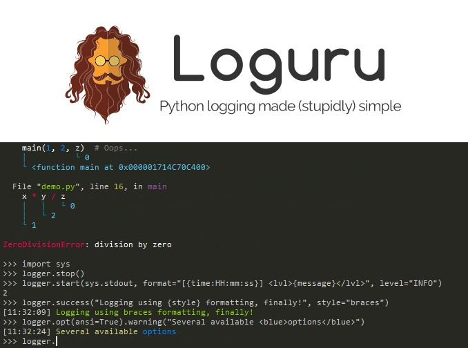 A library which aims to bring enjoyable logging in Python
