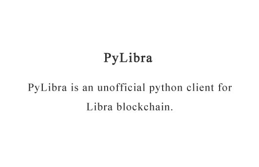 A Python client for Libra network