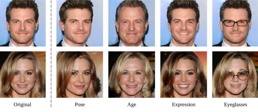 Interpreting the Latent Space of GANs for Semantic Face Editing