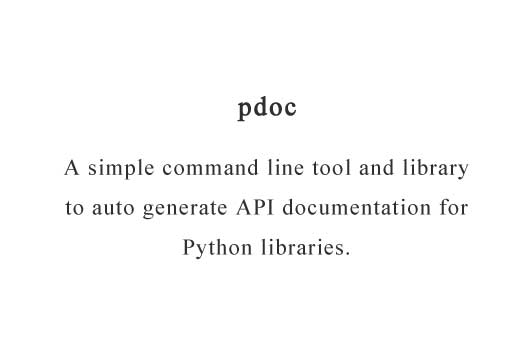 A simple command line tool and library to auto generate API documentation