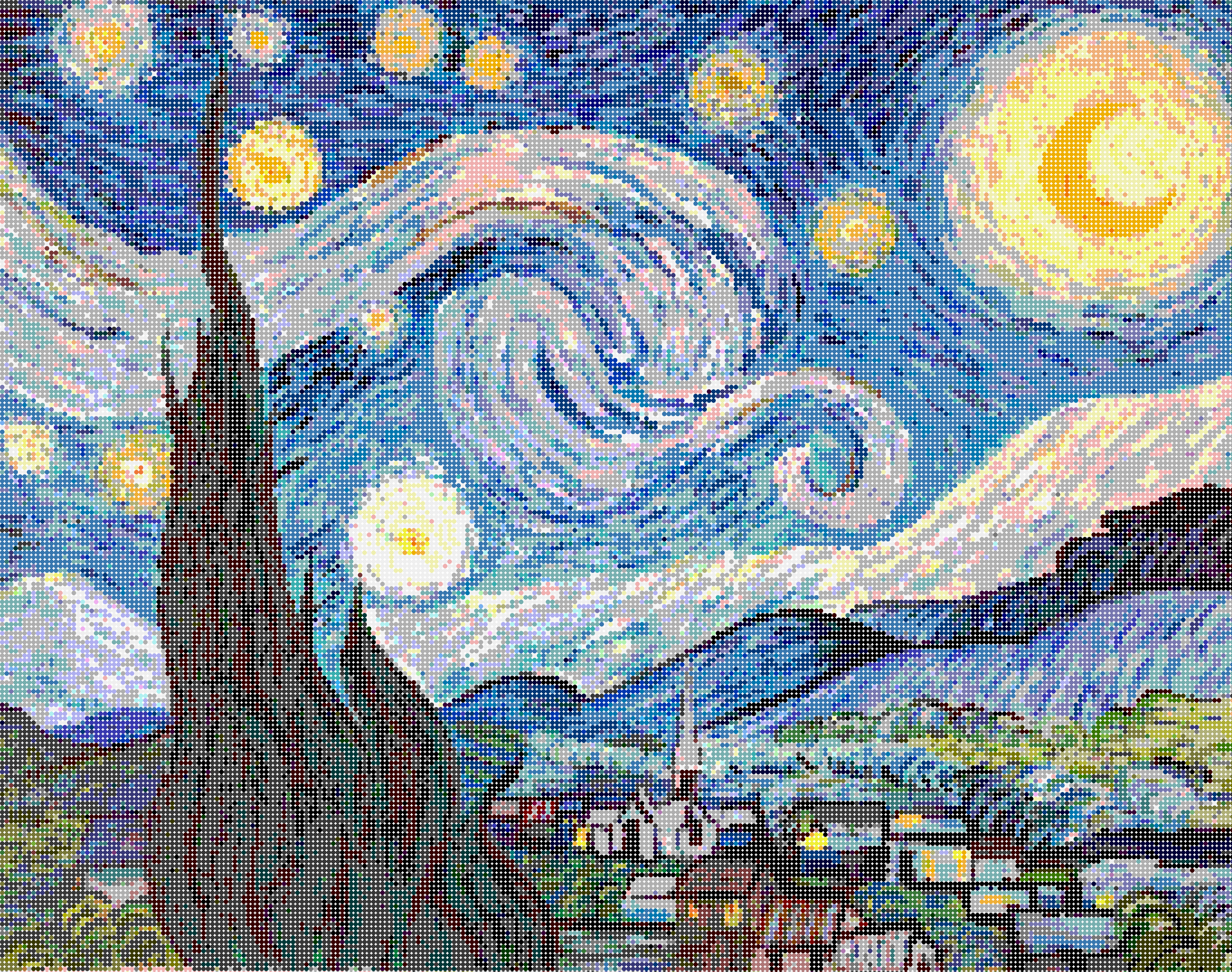 starry_night_circles_10x10