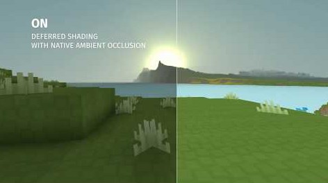 Visualisation of a procedurally generated voxel terrain