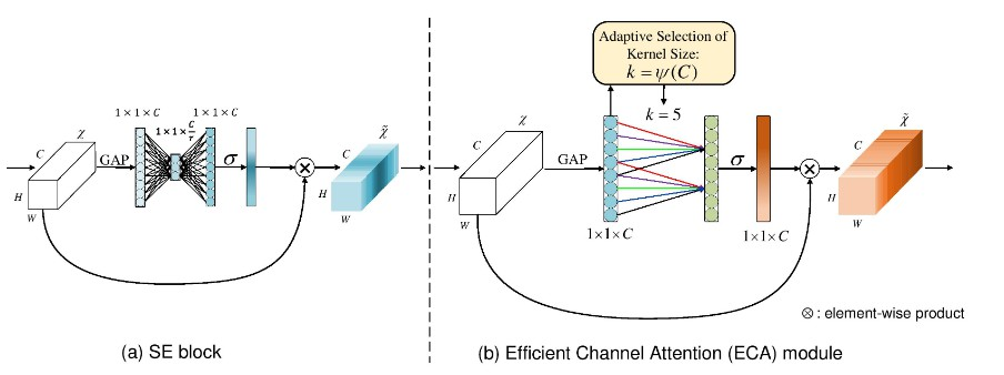 Efficient Channel Attention for Deep Convolutional Neural Networks