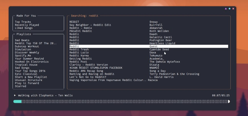 Another terminal-based Spotify client