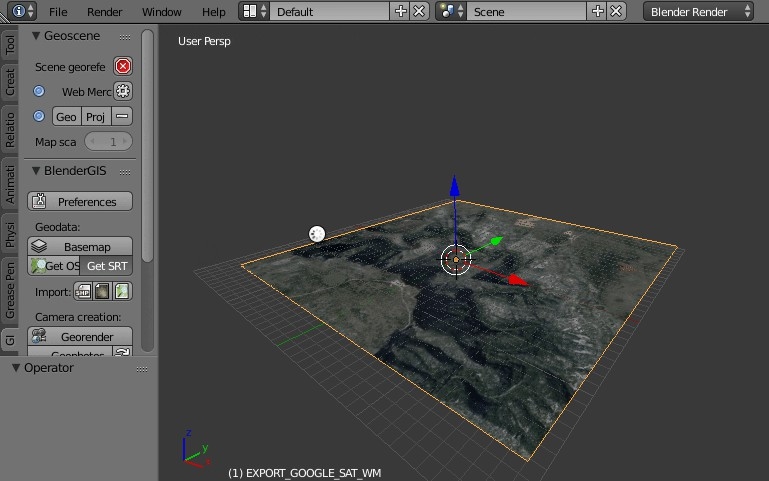 Blender addons to make the bridge between Blender and geographic data