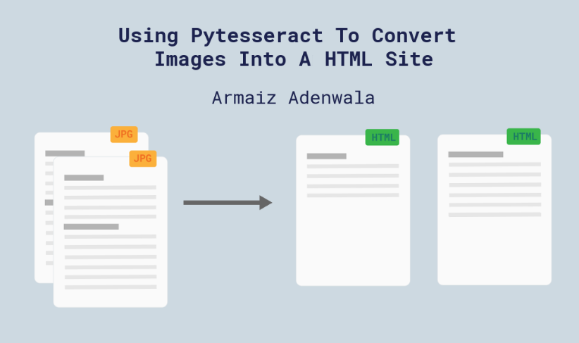Converts images into html files with python