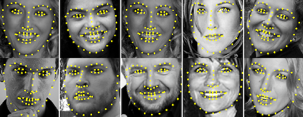 Implementation of face landmark detection with PyTorch