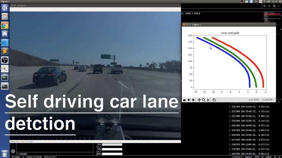 Self driving car lane and path detection