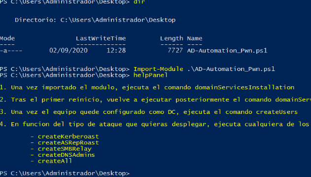 PowerShell tool ideal for deploying a vulnerable AD environment in an automated way